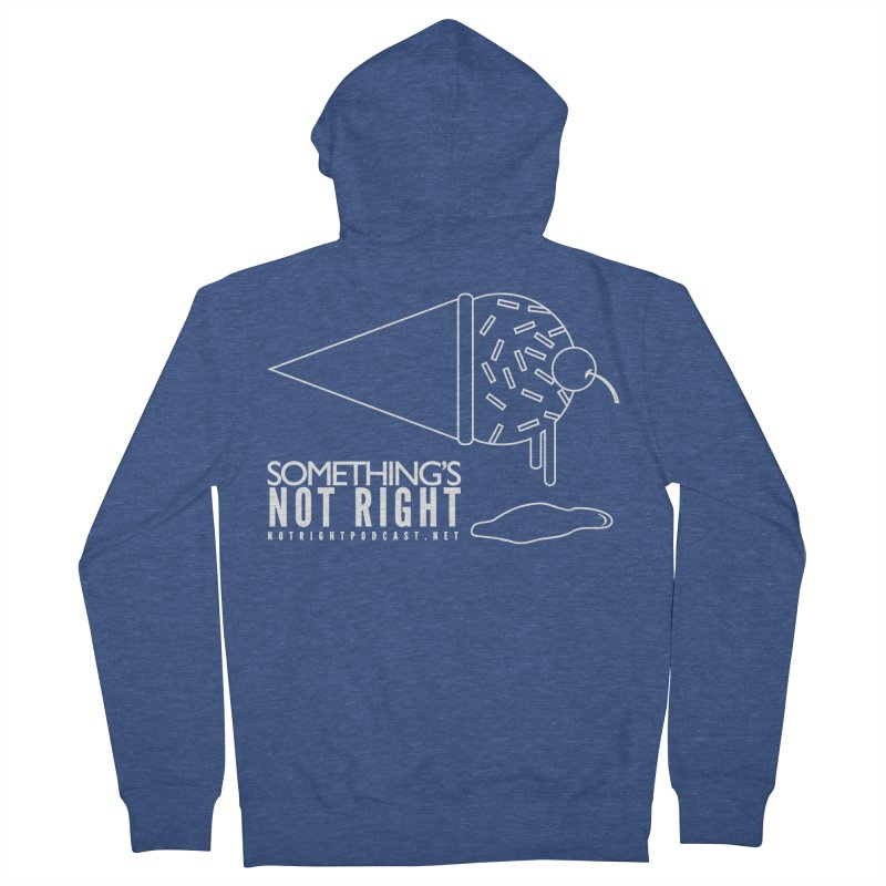 SNR - Alternative Logo - White Men's French Terry Zip-Up Hoody by Something's Not Right