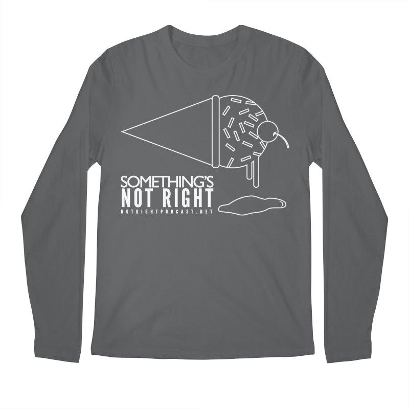 SNR - Alternative Logo - White Men's Longsleeve T-Shirt by Something's Not Right