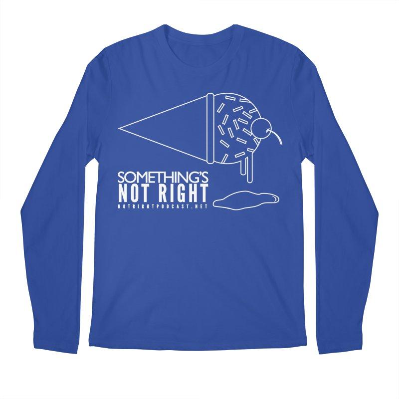 SNR - Alternative Logo - White Men's Regular Longsleeve T-Shirt by Something's Not Right