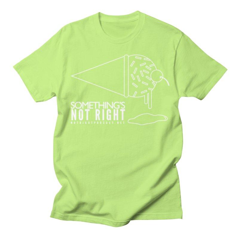 SNR - Alternative Logo - White Men's Regular T-Shirt by Something's Not Right