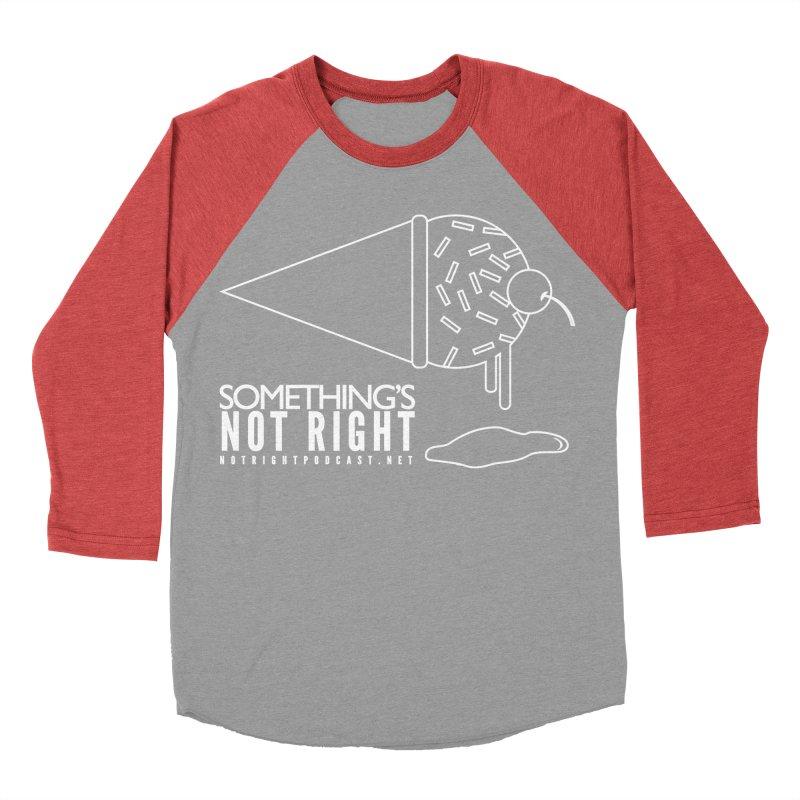 SNR - Alternative Logo - White Men's Baseball Triblend Longsleeve T-Shirt by Something's Not Right