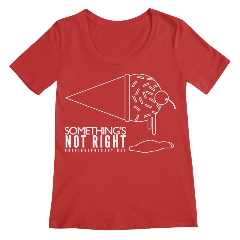 SNR - Alternative Logo - White Women's Regular Scoop Neck by Something's Not Right