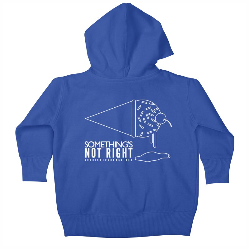 SNR - Alternative Logo - White Kids Baby Zip-Up Hoody by Something's Not Right