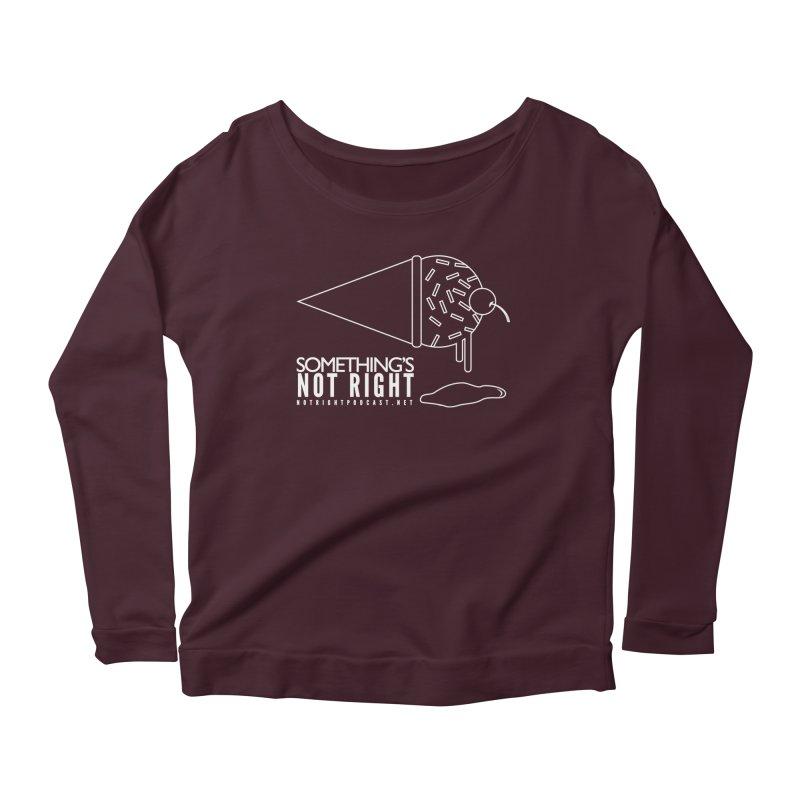 SNR - Alternative Logo - White Women's Scoop Neck Longsleeve T-Shirt by Something's Not Right