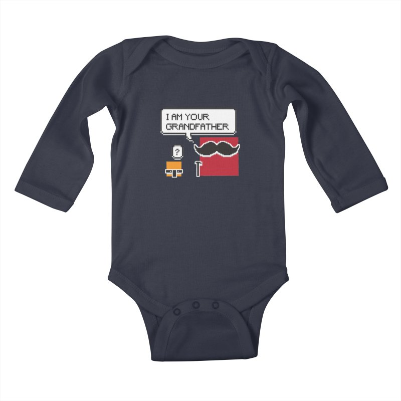 Says Megapixel Kids Baby Longsleeve Bodysuit by Vectoran