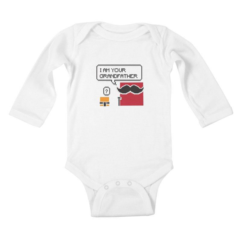 Says Megapixel Kids Baby Longsleeve Bodysuit by Vectoran