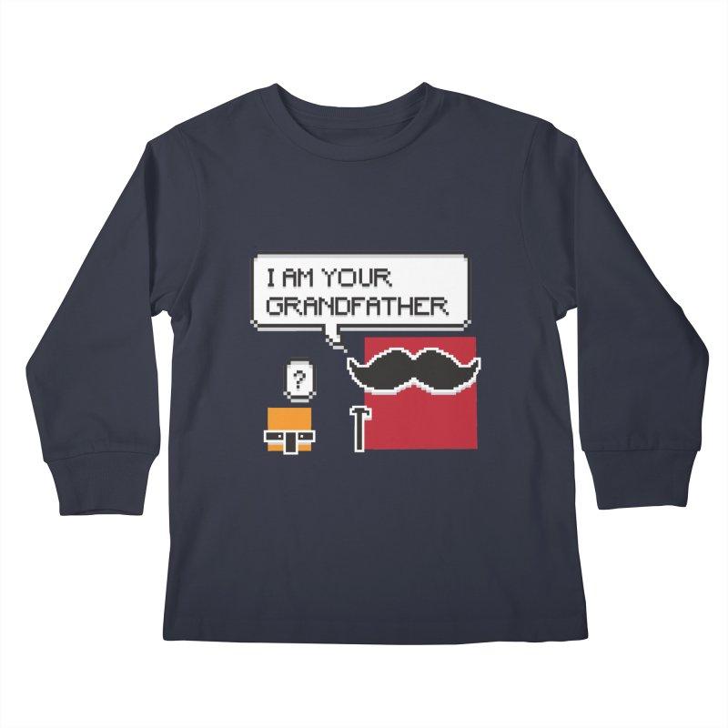 Says Megapixel Kids Longsleeve T-Shirt by Vectoran