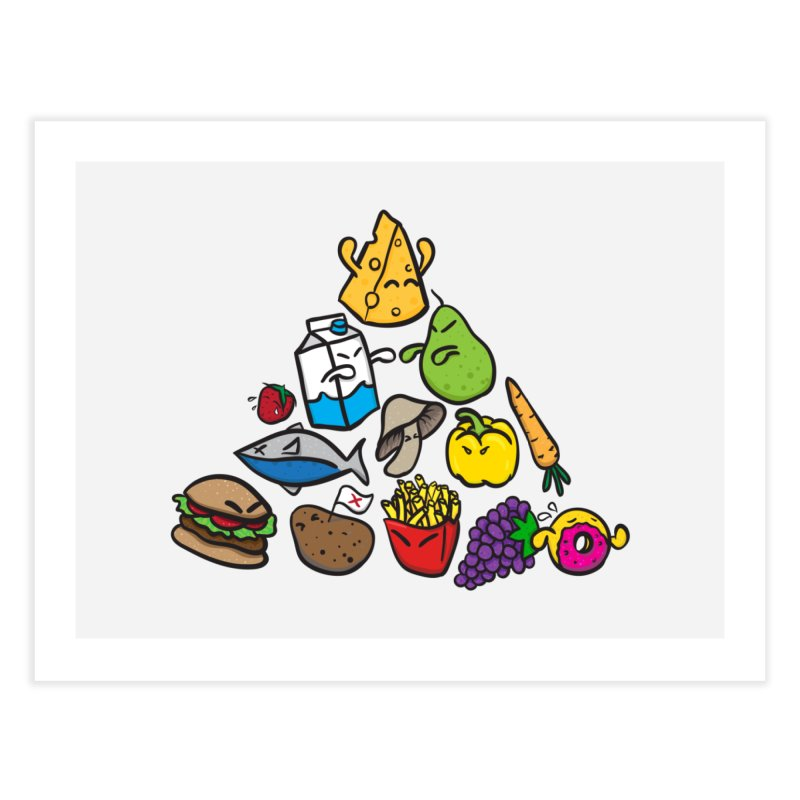 Imbalance Diet Home Fine Art Print by Vectoran