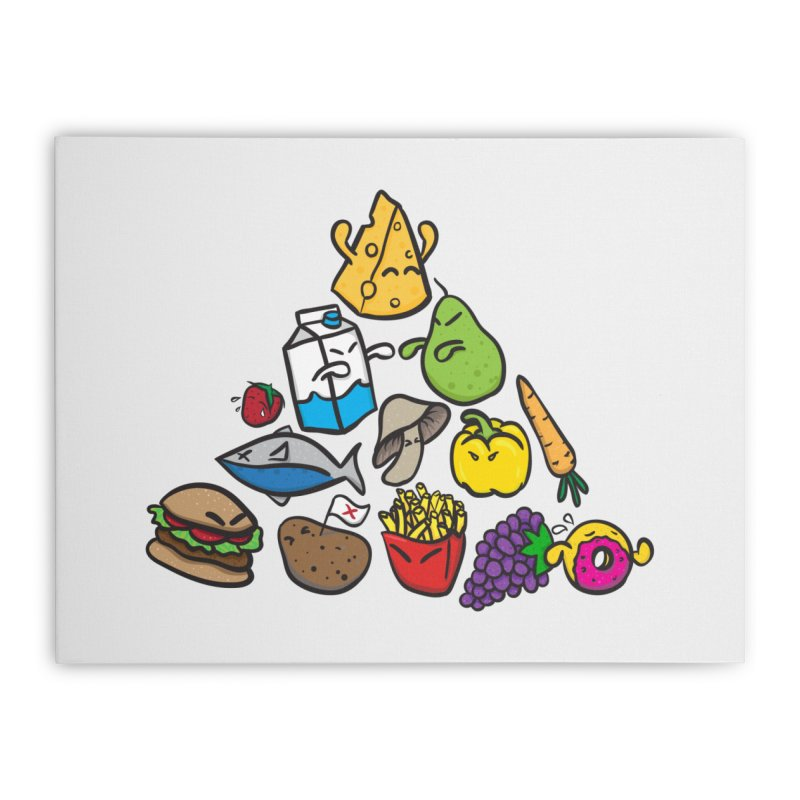 Imbalance Diet Home Stretched Canvas by Vectoran