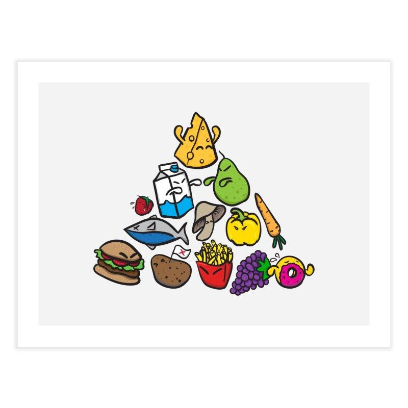 Imbalance Diet Home Fine Art Print by Vectoran