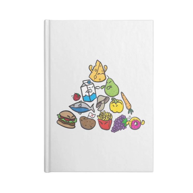Imbalance Diet Accessories Lined Journal Notebook by Vectoran