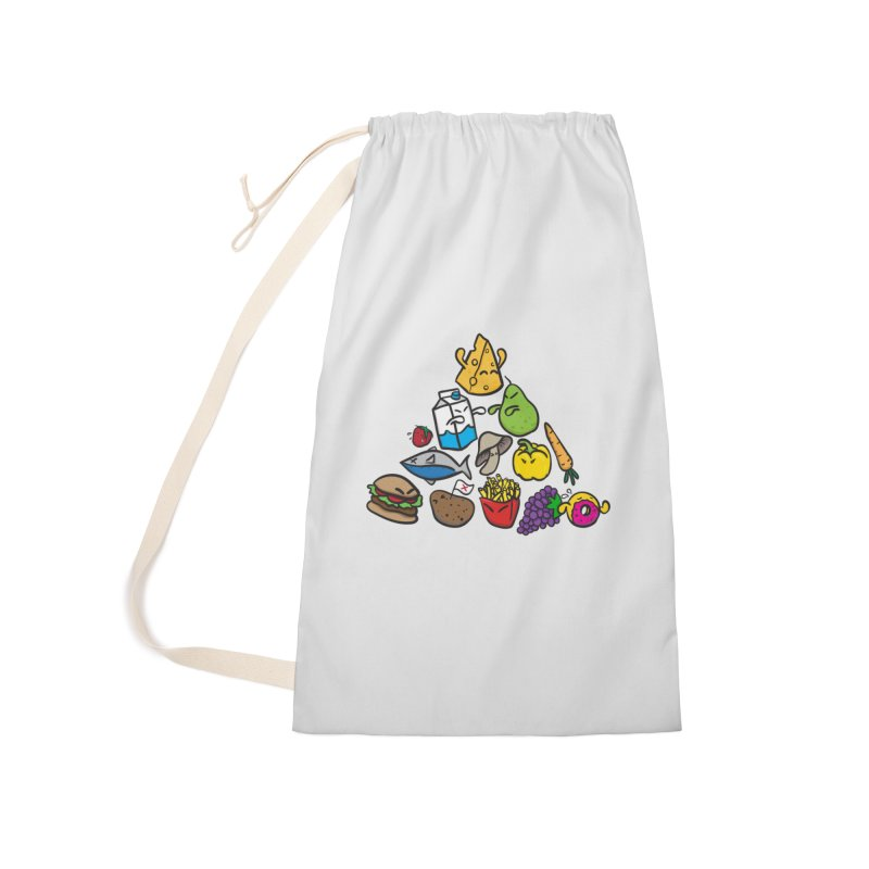 Imbalance Diet Accessories Laundry Bag Bag by Vectoran