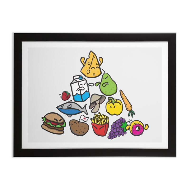 Imbalance Diet Home Framed Fine Art Print by Vectoran