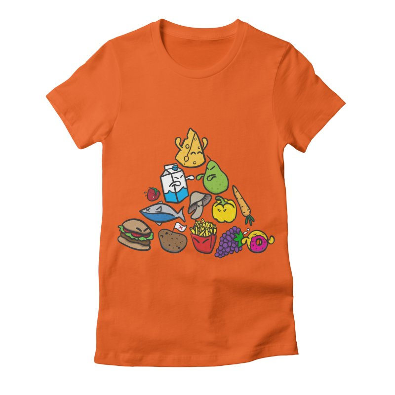 Imbalance Diet Women's Fitted T-Shirt by Vectoran