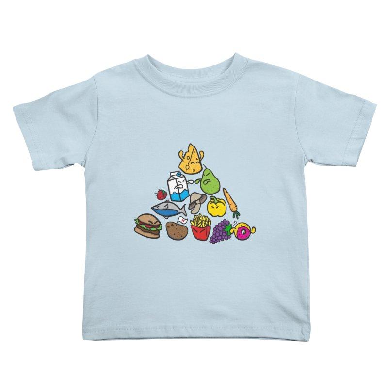 Imbalance Diet Kids Toddler T-Shirt by Vectoran