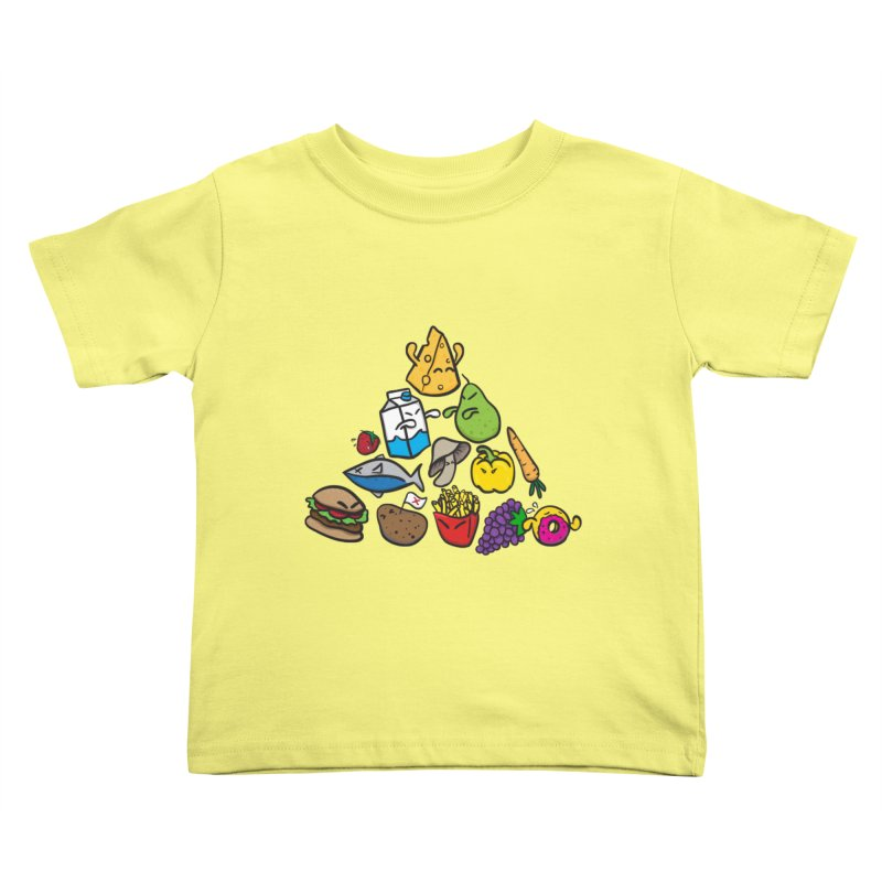 Imbalance Diet Kids Toddler T-Shirt by Vectoran