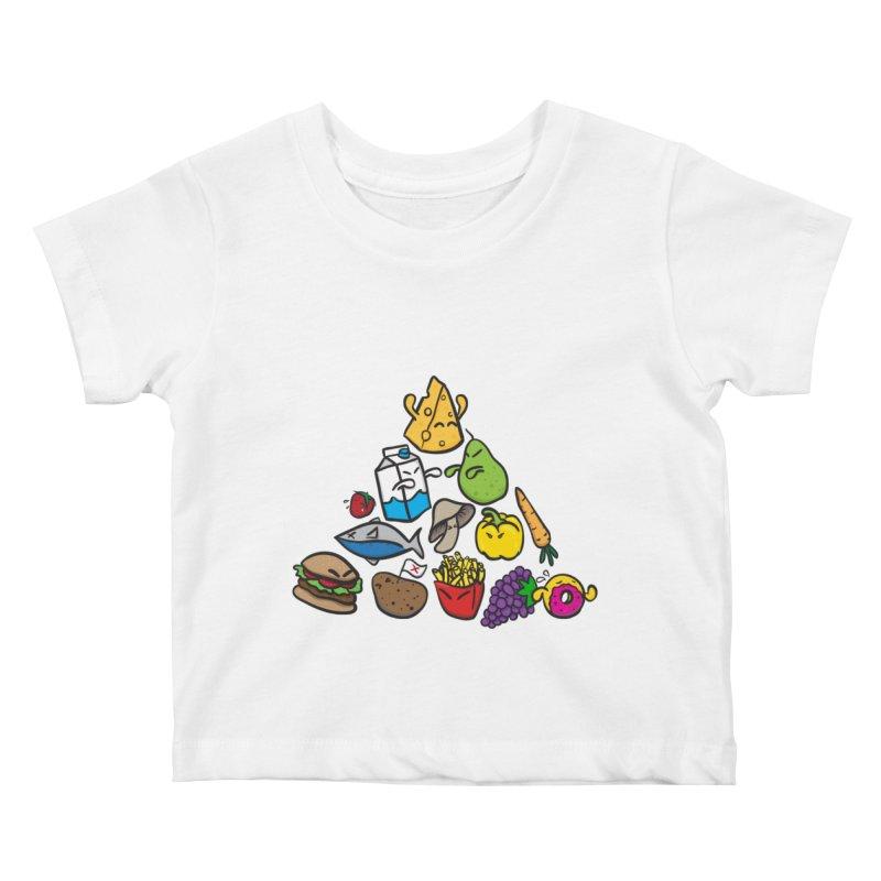 Imbalance Diet Kids Baby T-Shirt by Vectoran