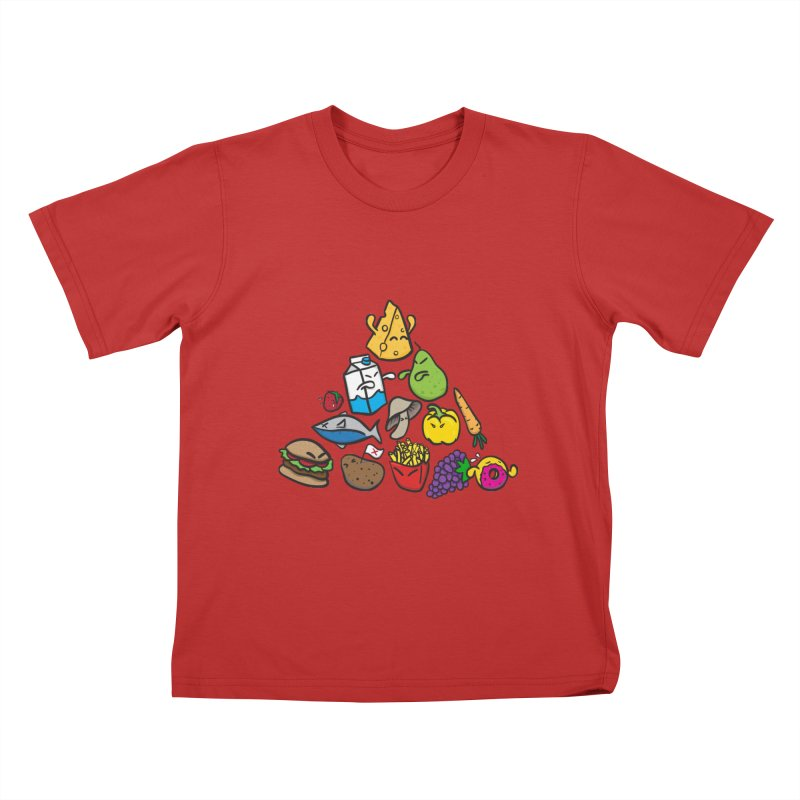 Imbalance Diet Kids T-Shirt by Vectoran