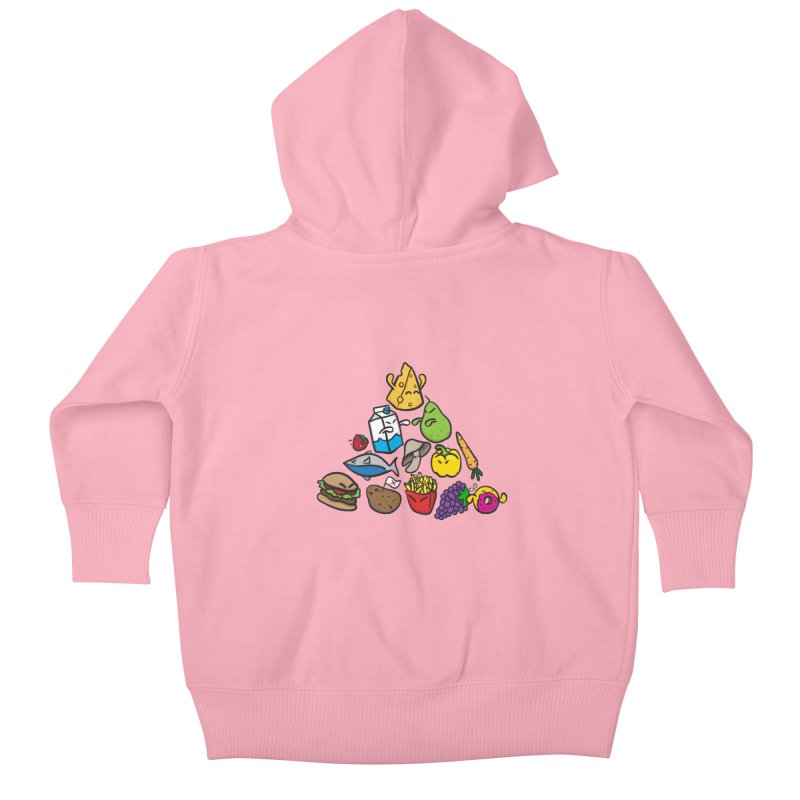 Imbalance Diet Kids Baby Zip-Up Hoody by Vectoran