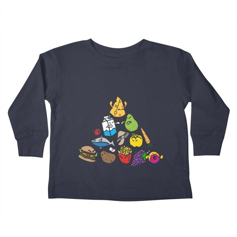 Imbalance Diet Kids Toddler Longsleeve T-Shirt by Vectoran