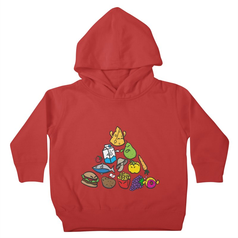 Imbalance Diet Kids Toddler Pullover Hoody by Vectoran