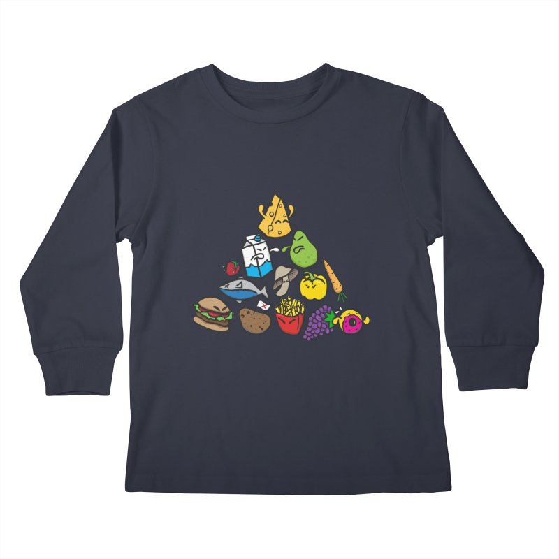 Imbalance Diet Kids Longsleeve T-Shirt by Vectoran