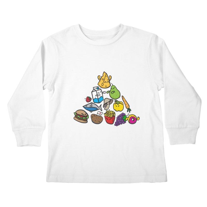 Imbalance Diet Kids Longsleeve T-Shirt by Vectoran