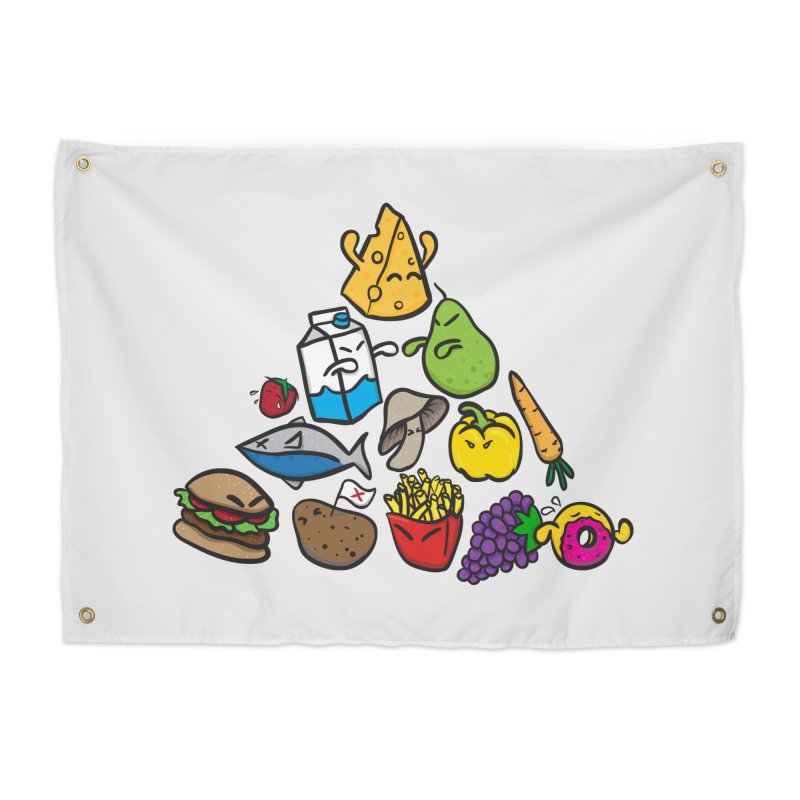 Imbalance Diet Home Tapestry by Vectoran