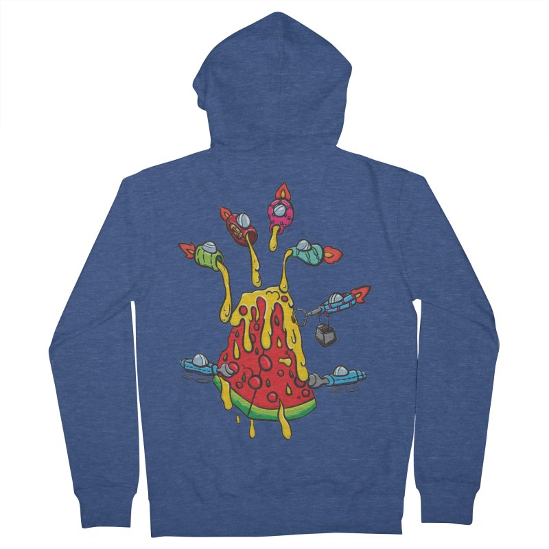 Cheesy Makeover Men's French Terry Zip-Up Hoody by Vectoran