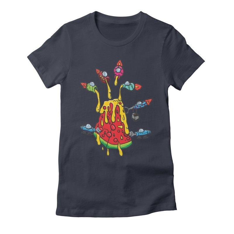 Cheesy Makeover Women's Fitted T-Shirt by Vectoran