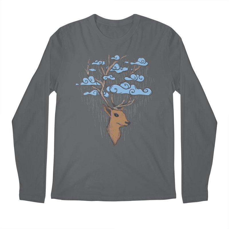 Raindeer Men's Longsleeve T-Shirt by Vectoran