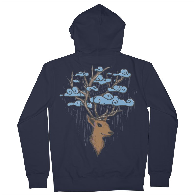 Raindeer Women's Zip-Up Hoody by Vectoran