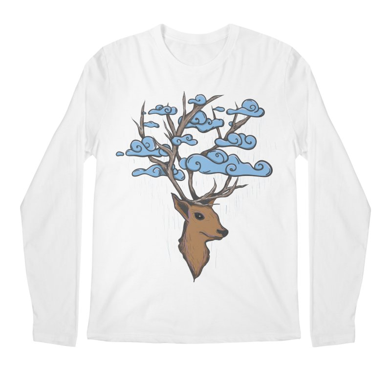 Raindeer Men's Regular Longsleeve T-Shirt by Vectoran