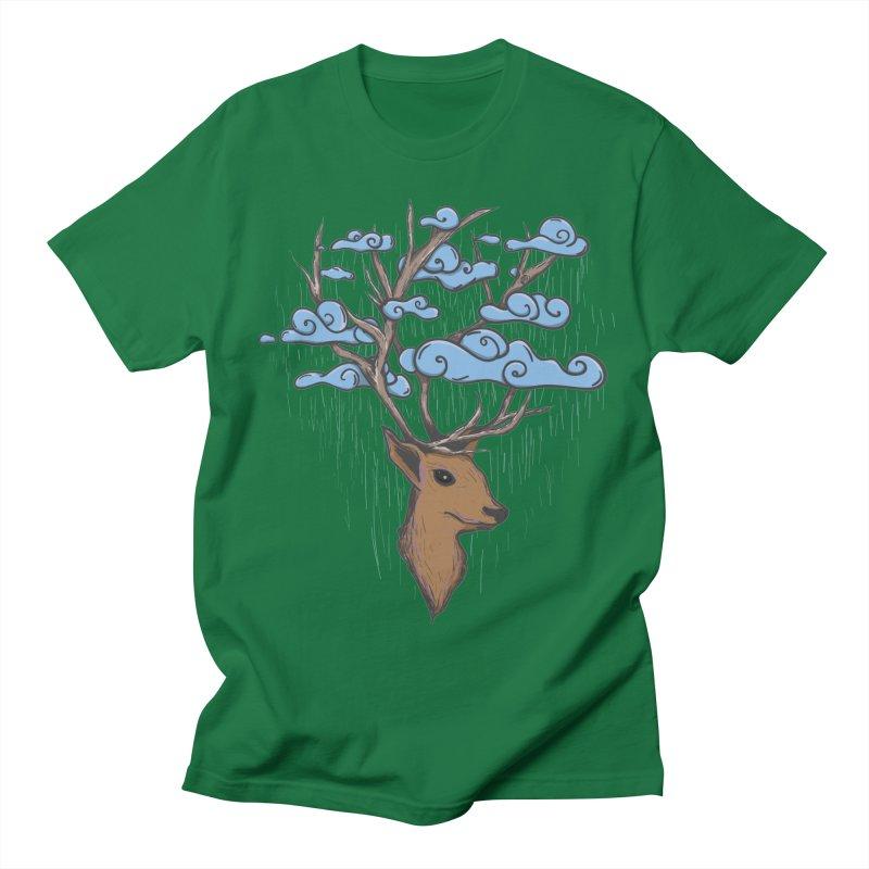 Raindeer Men's T-Shirt by Vectoran