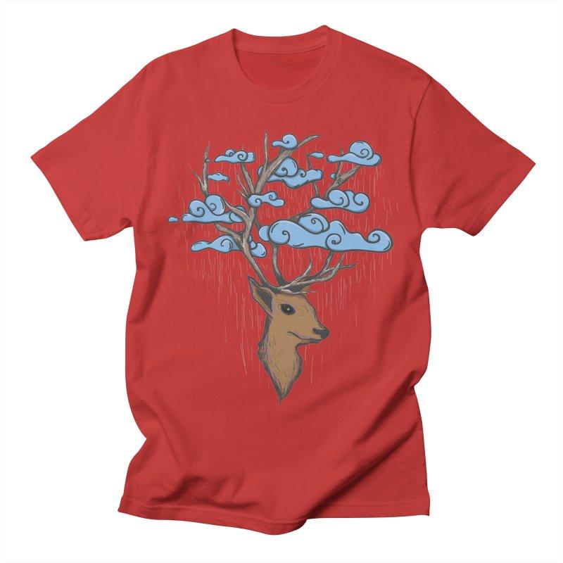Raindeer Men's Regular T-Shirt by Vectoran