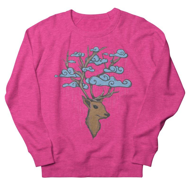 Raindeer Women's French Terry Sweatshirt by Vectoran