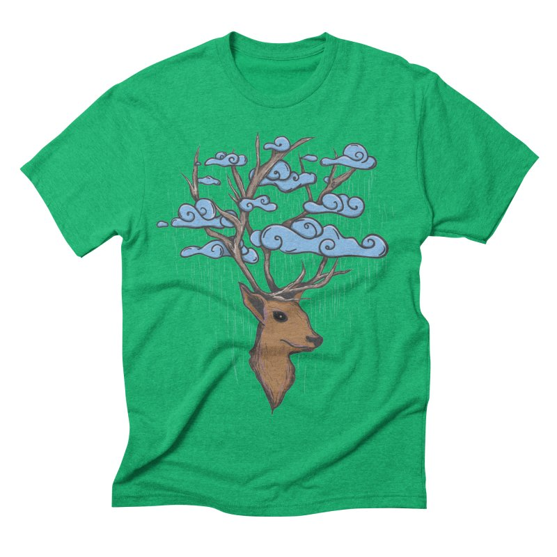 Raindeer Men's Triblend T-Shirt by Vectoran