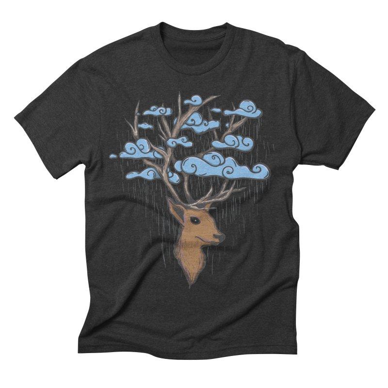 Raindeer Men's Triblend T-Shirt by Vectoran