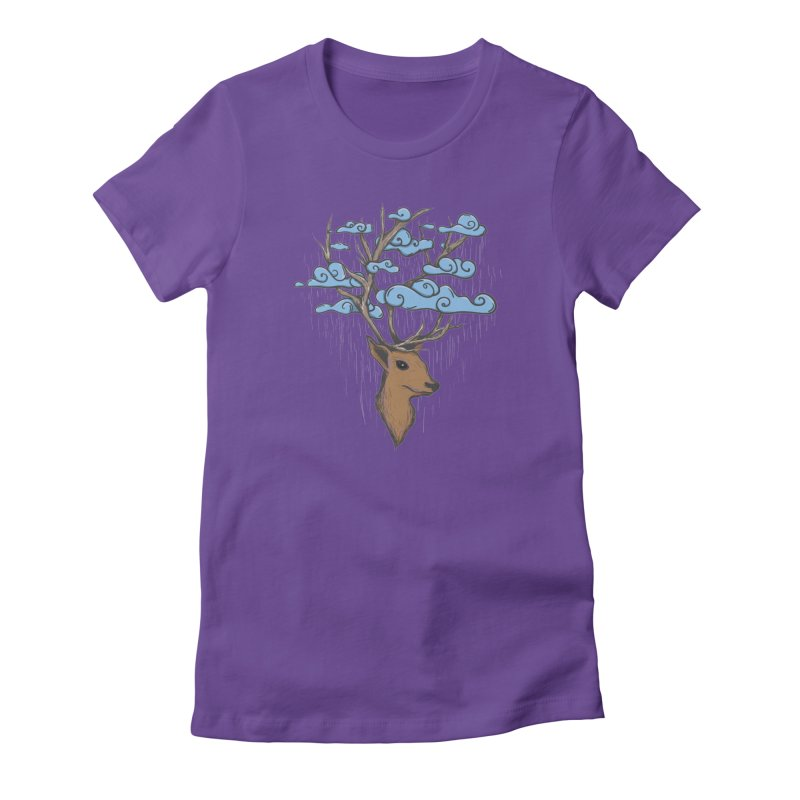 Raindeer Women's T-Shirt by Vectoran