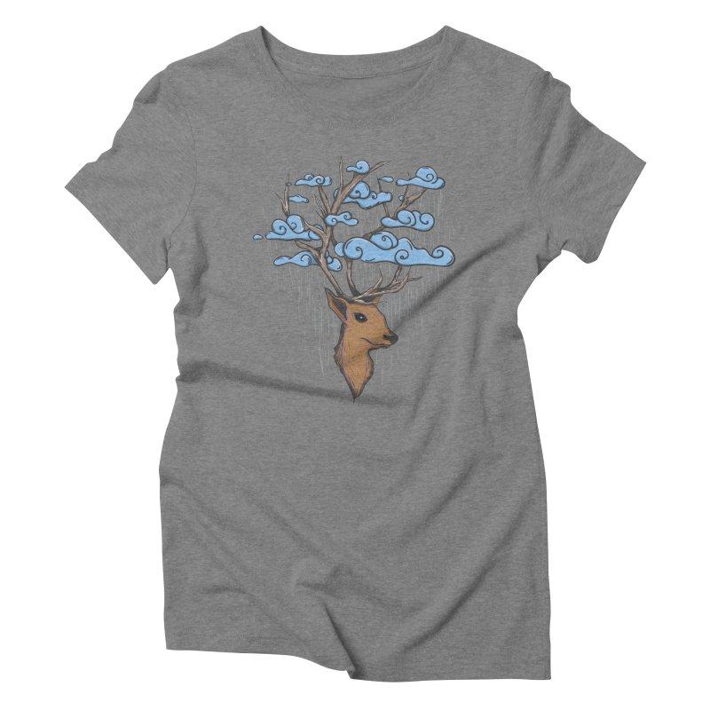 Raindeer Women's Triblend T-Shirt by Vectoran