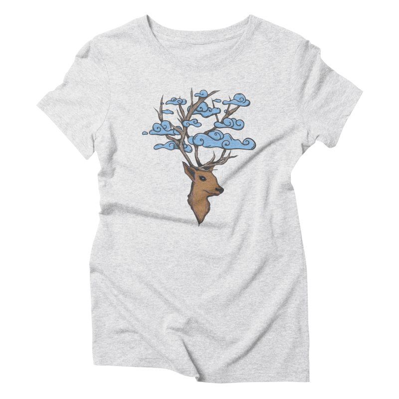Raindeer Women's Triblend T-Shirt by Vectoran