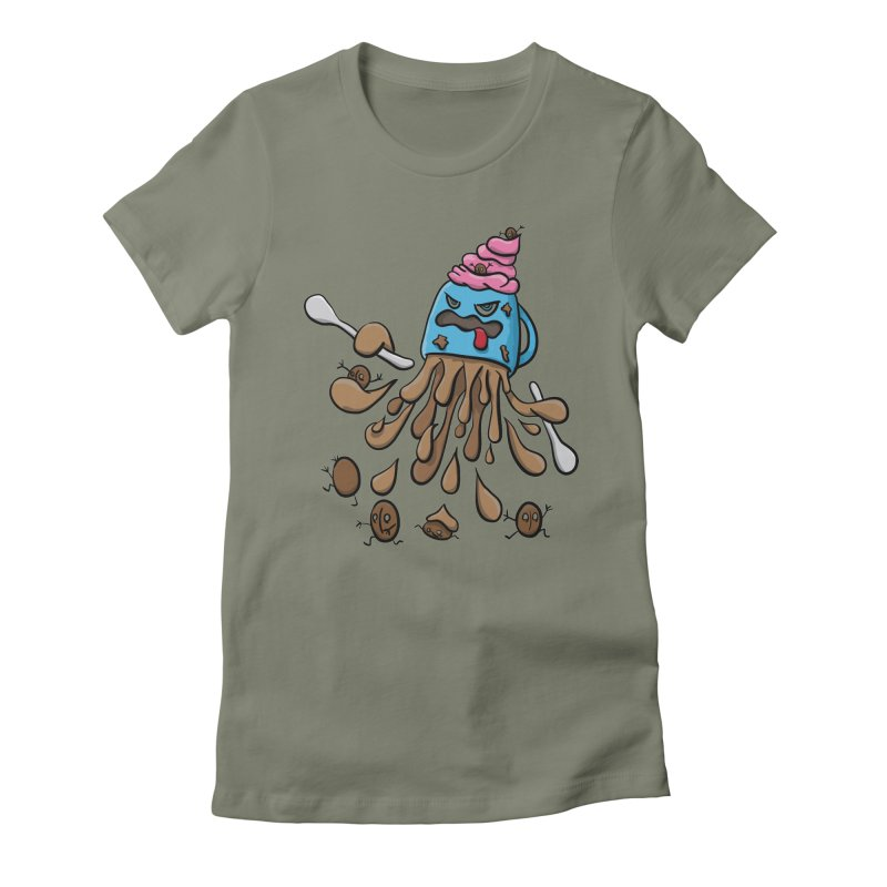 Something's Brewing Women's Fitted T-Shirt by Vectoran