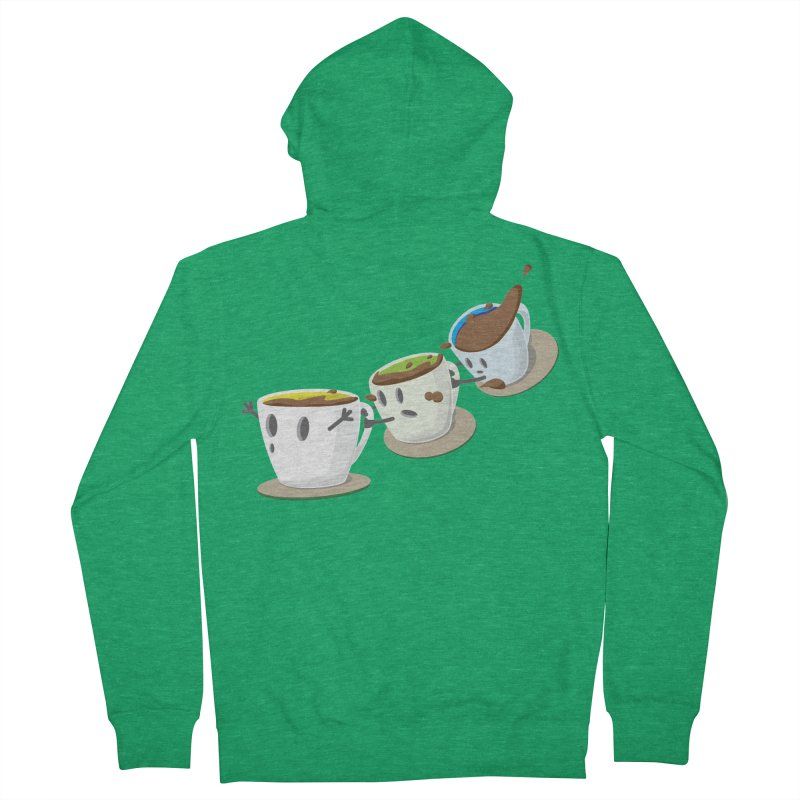 Coffee Coaster Women's Zip-Up Hoody by Vectoran