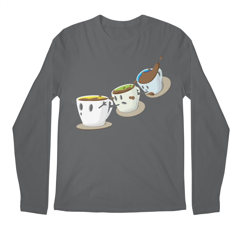 Coffee Coaster Men's Longsleeve T-Shirt by Vectoran