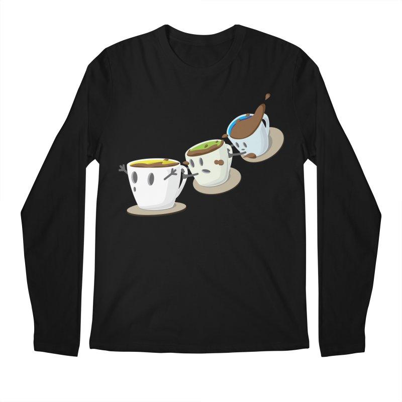 Coffee Coaster Men's Regular Longsleeve T-Shirt by Vectoran