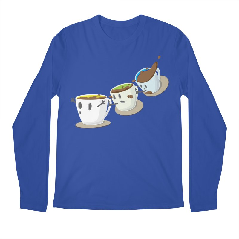 Coffee Coaster Men's Regular Longsleeve T-Shirt by Vectoran