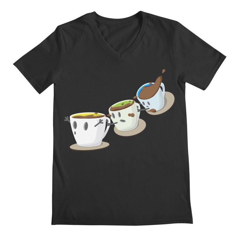 Coffee Coaster Men's V-Neck by Vectoran