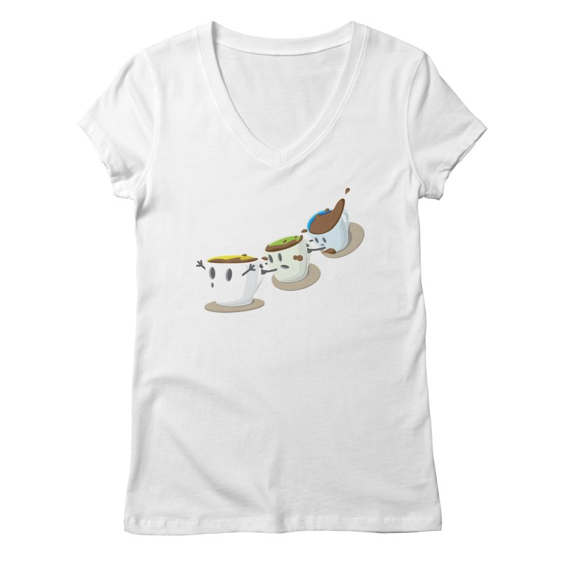 Coffee Coaster Women's Regular V-Neck by Vectoran