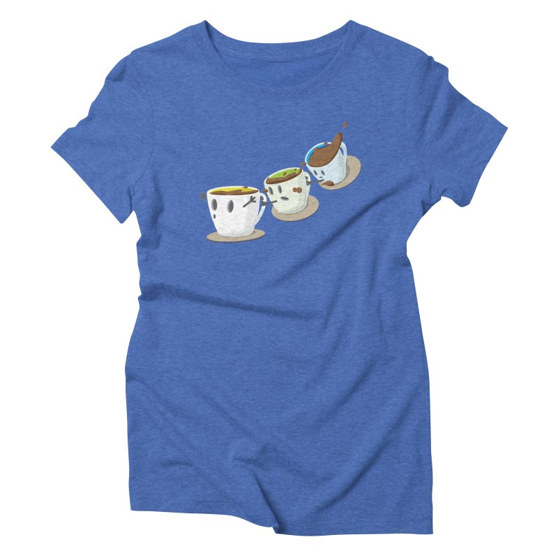 Coffee Coaster Women's Triblend T-shirt by Vectoran