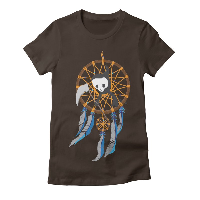 Grim Catcher Women's Fitted T-Shirt by Vectoran